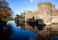 Beaumaris Castle. Outer walls and moat