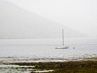 Mooring in the Rain, Carbost, Loch Harport