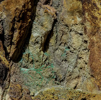 Parys. Copper outcropping in the open cast